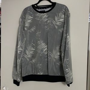Black/Clear Sweater with palm tree print